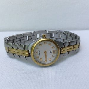 Fossil F2 Two Tone Stainless Steel Watch ES-9656
